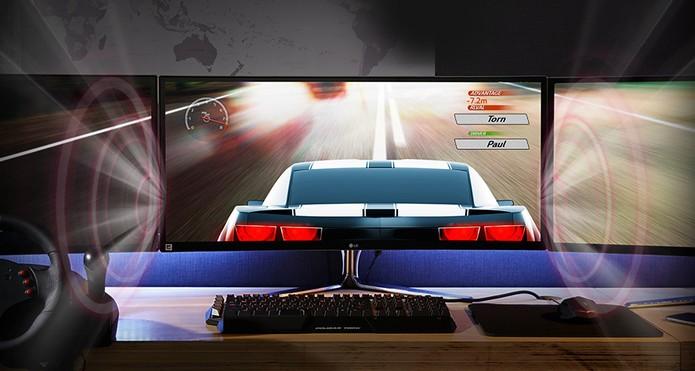 Monitor LG Curvo UltraWide (34UC97) é ideal para gamers ou editores de vídeo (Foto: Divulgação/LG)
