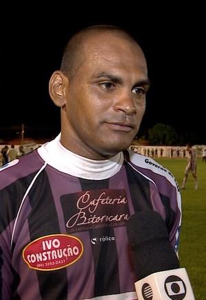 Goleiro Preto, do Caiçara  (Foto: TV Clube )