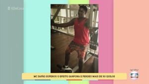 Nas redes sociais, o cantor posta sua rotina de exercícios (Foto: TV Globo)