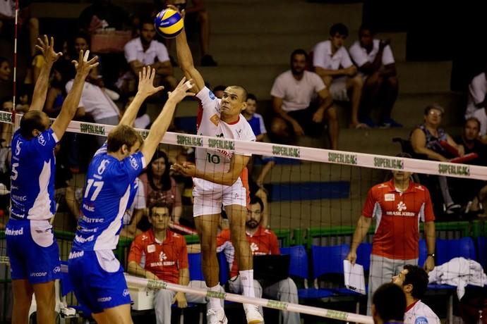 Campinas x Taubaté vôlei Superliga masculina (Foto: Cinara Piccolo / Divulgação)