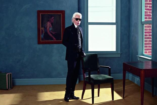 Obra exposta em 'Karl Lagerfeld: A Visual Journe' (Foto: Divulgação)