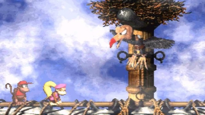 A sequência Donkey Kong Country 2 aumentou o nível de conteúdo e desafio (Foto: Reprodução/Moby Games)