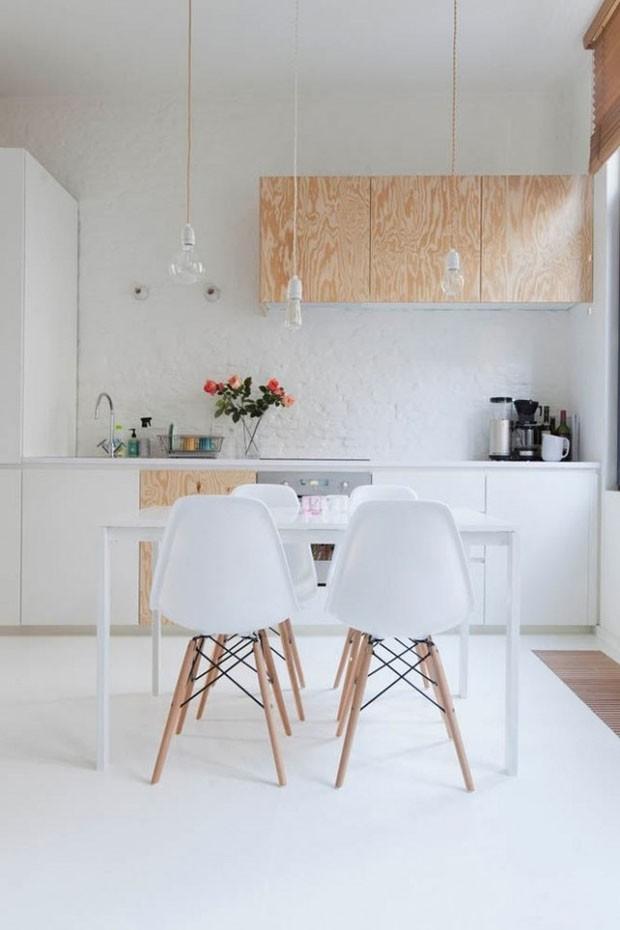 Linda cozinha branca (Foto: reprodu)