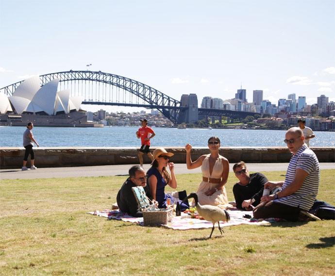 Grupo passeia por Sydney (Foto: Bernardo Duarte/Gshow)