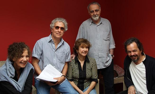Fátima Valença, Sérgio Fonta, Ana Rosa, Lionel Fischer e Julio Adrião (Foto: Renata Magalhães)