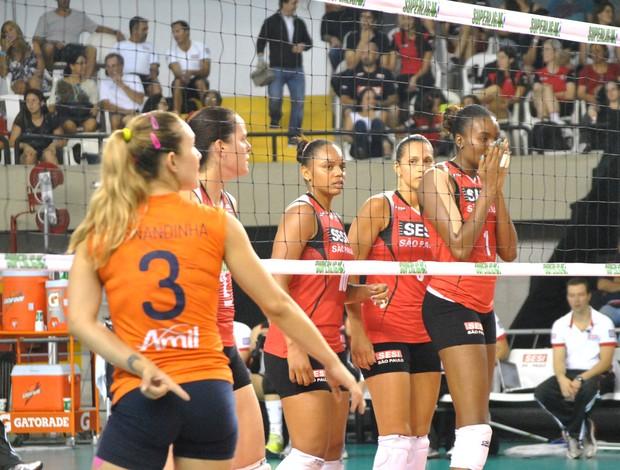 Vôlei Sesi e Campinas (Foto: João Gabriel / Globoesporte.com)