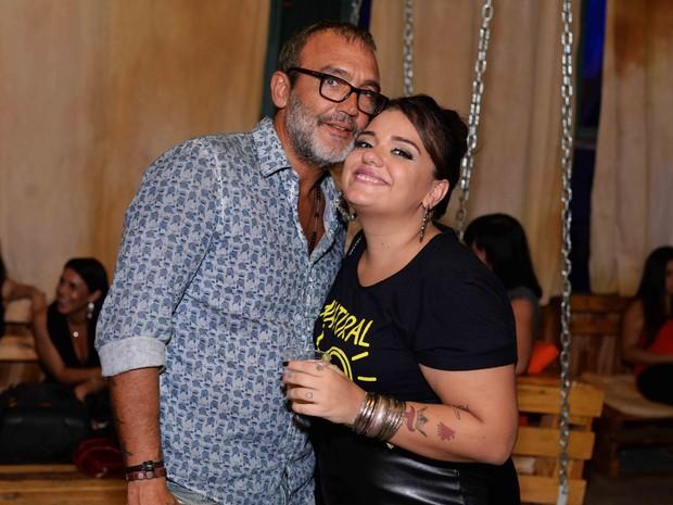 O diretor Rogério Gomes, o Papinha, e Lela Gomes em evento no Rio (Foto: Ari Kaye/ Divulgação)