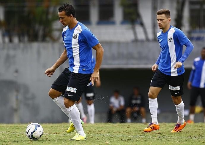 Leandro Damião Lucas Lima Santos (Foto: Ricardo Saibun/Divulgação Santos FC)