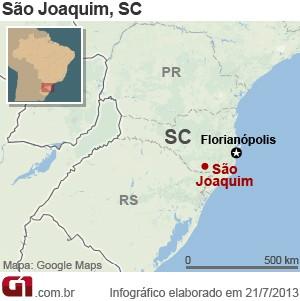 Mapa São Joaquim SC (Foto: Arte/G1)