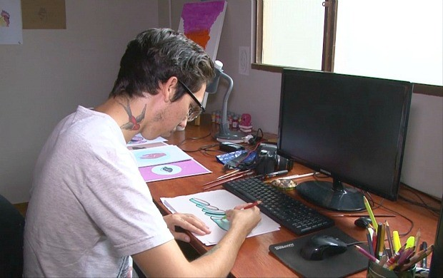 Vitor Gomes fará sua primeira exposição em Vilhena (Foto: Bom Dia Amazônia)