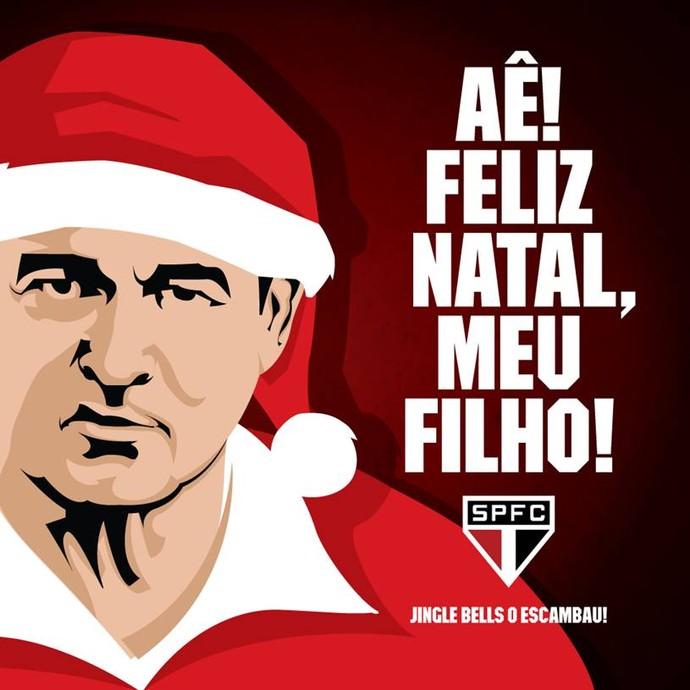Muricy Ramalho na mensagem de natal do São Paulo (Foto: Divulgação)