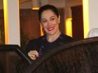 Claudia Raia comemora aniversário com a família e amigos