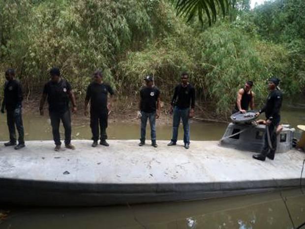 Submarino será trazido para Belém carregado por um caminhão (Foto: Divulgação/Polícia Civil do Pará)