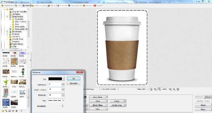 PhotoScape permite a personalizar a moldura aplicada na foto (Foto: Reprodução/Lívia Dâmaso)