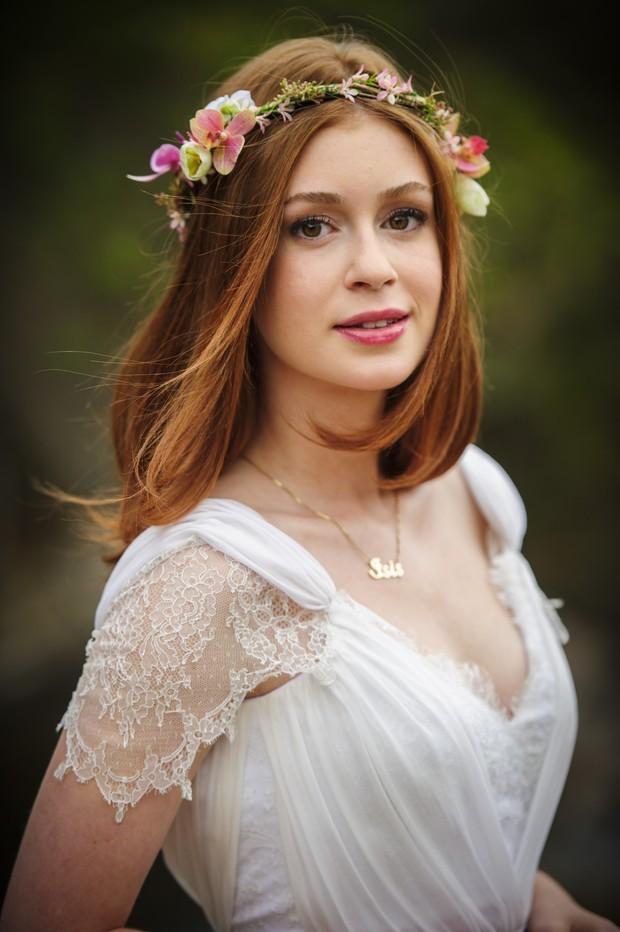 """A personagem Maria Isis, interpretada por Marina Ruy Barbosa, realizou o sonho de se casar com seu Comendador José Alfredo na novela """"Império"""". (Foto: TV Globo/Divulgação)"""