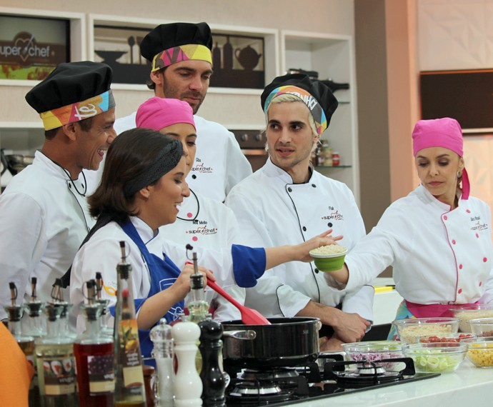 Participantes do 'Super Chef' no workshop  (Foto: Priscilla Massena/Gshow)
