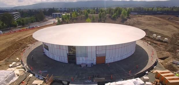 """O auditório """"Steve Jobs"""" deve ser inaugurado no fim de 2017 ou início de 2018 (Foto: Reprodução/YouTube Matthew Roberts)"""