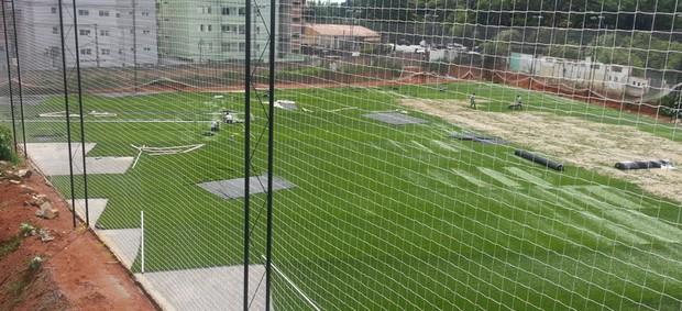 CT do Bragantino está em fase final de construção (Foto: Edinho Campos/ Divulgação Bragantino)