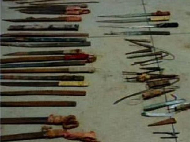 Objetos foram encontrados na Penitenciária Regional do Cariri em Juazeiro do Norte (Foto: Reprodução/TV Verdes Mares)
