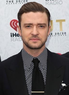Justin Timberlake em lançamento de álbum em Los Angeles, nos Estados Unidos (Foto: David Livingston/ Getty Images/ AFP)