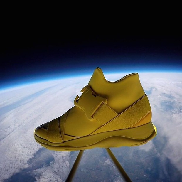 O tênis que foi ao espaço (Foto: Reprodução)