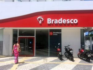 Agência do Bradesco no Garcia, em Salvador (Foto: Natally Acioli/G1)