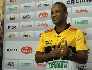 Rodrigo Silva Criciúma apresentação (Foto: João Lucas Cardoso)