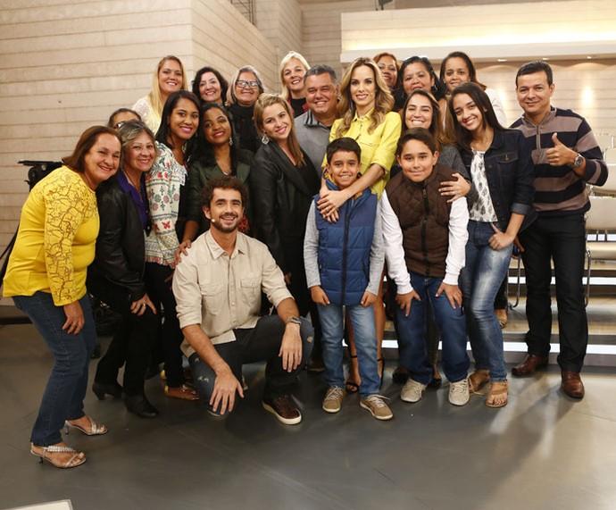 Para participar da plateia do programa, acesse o site! (Foto: Fábio Rocha/Gshow)