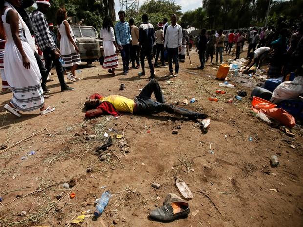 Protesto terá terminado com centenas de mortos — Etiópia