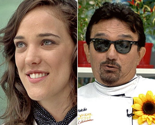 Adriana Birolli e Falcão: quem será o primeiro eliminado do Super Chef ? (Foto: Mais Você / TV Globo)