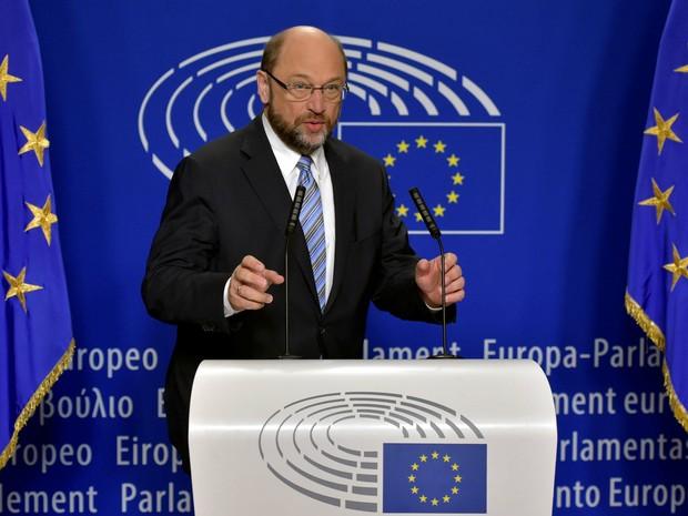 Martin Schulz, presidente do parlamento Europeu (Foto: REUTERS/Eric Vidal)
