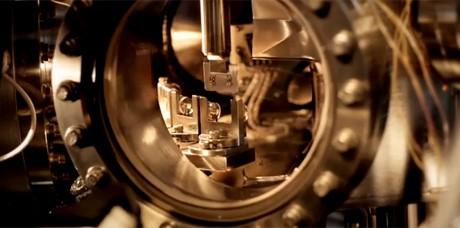 O microscópio de tunelamento, usado para gravar o menor filme do mundo, pela IBM (Foto: IBM/Reprodução)