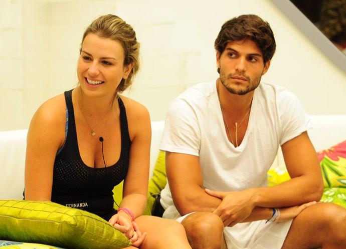 Fernanda Keulla e André Martinelli se conheceram no BBB13 e terminaram a relação em 2015 (Foto: João Cotta/TV Globo)