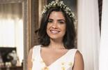 Vanessa Giácomo usa vestido de noiva com aplicação de pétalas em casamento de Tóia