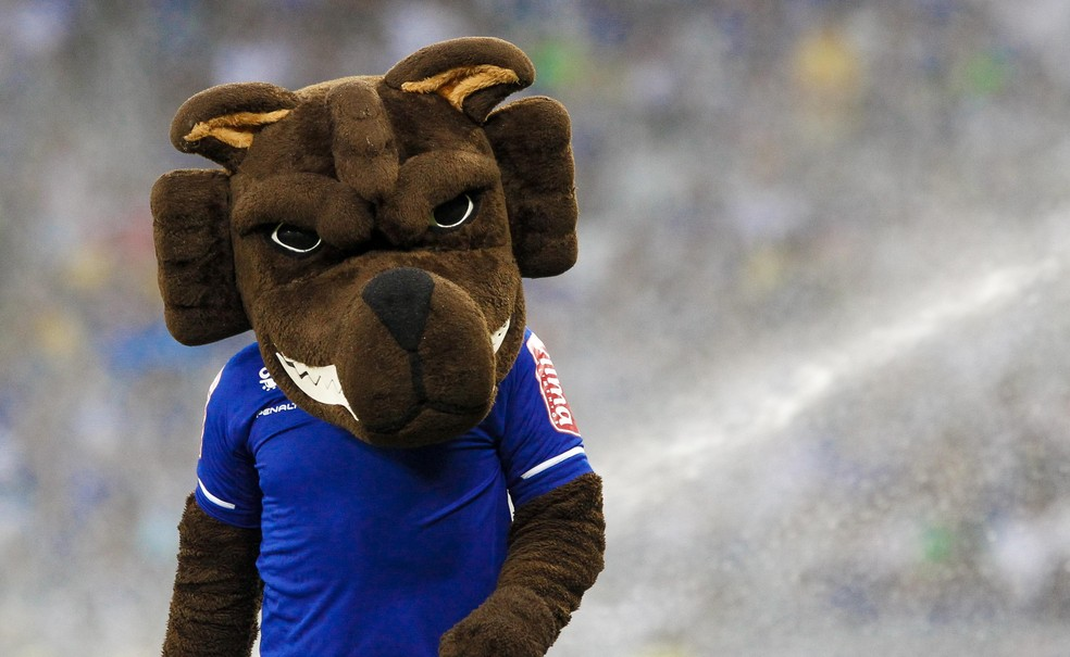 Raposão, mascote do Cruzeiro, não poderá comparecer ao Independência (Foto: Washington Alves / Light Press)