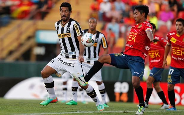 Ferreyra e Matias Navarrete, Union Espanola x Botafogo (Foto: Reuters)