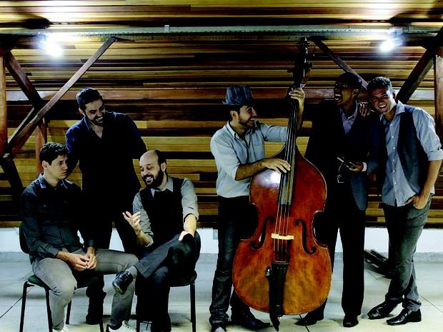 Sexteto Vocalyse fara show com parceria com Banda Mogiana no Theatro Pedro II (Foto: Sexteto Vocalyse / Divulgação )