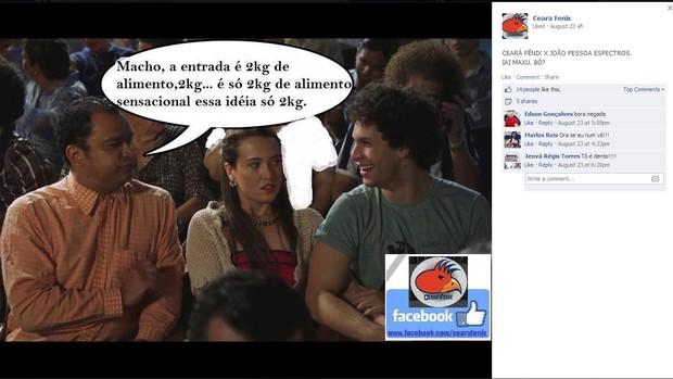 ceará fênix reprodução facebook (Foto: Reprodução/Facebook Ceará Fênix)