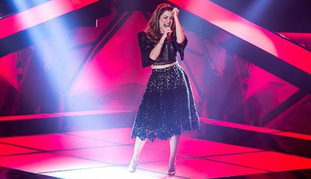 Millane Hora quebra tudo no palco do The Voice Brasil (Foto: Isabella Pinheiro/TV Globo)