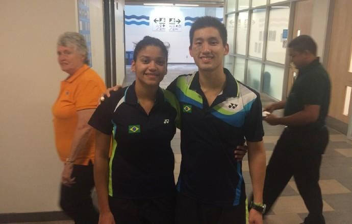 Lohaynny Vicente e Alex Tjong badminton (Foto: GloboEsporte.com)