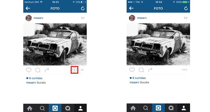Botão misterioso do Instagram foi removido após nova atualização (Foto: Reprodução/Marvin Costa)