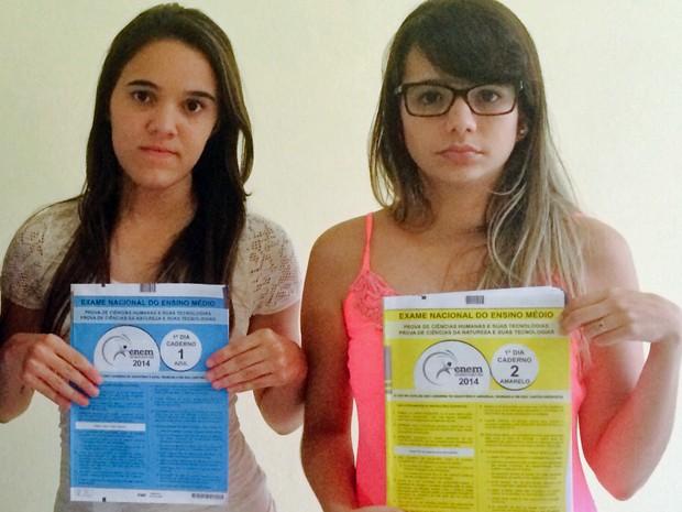 Marcela Pereira [E] e Lays Souza vão fazer provas do Enem 2014 pela terceira vez (Foto: Lays Souza / Arquivo pessoal)