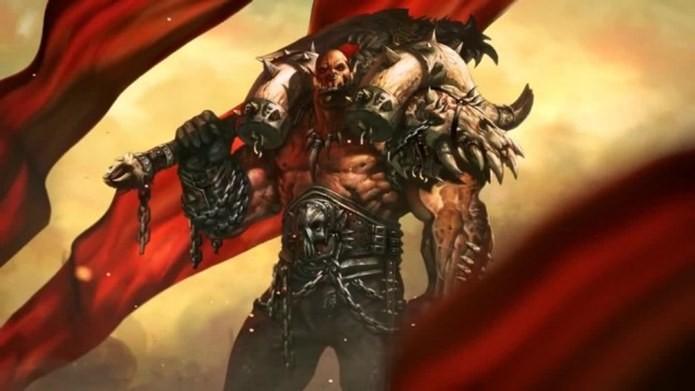 Garrosh resiste bastante a investida inimigas e possui armas poderosas (Foto: Divulgação)