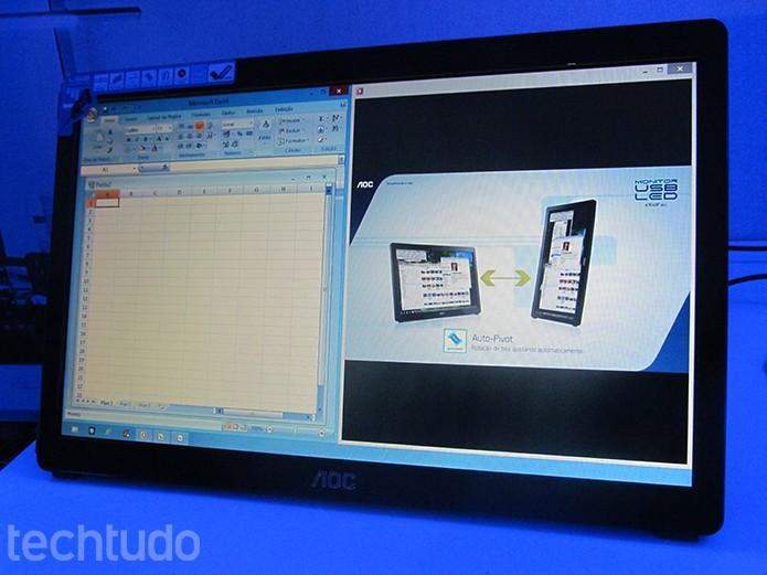 Proposta de monitor USB é aumentar produtividade (Foto: Paulo Alves/TechTudo)