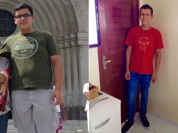 Para Heitor, adolescentes com excesso de peso precisam se cuidar o quanto antes, principalmente por causa da saúde (Foto: Arquivo pessoal/Heitor Marinho da Silva Araújo)