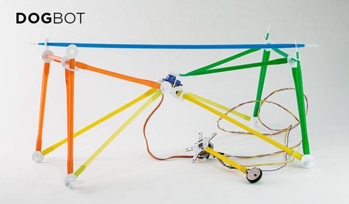 Projeto permite monter robô personalizado com canudos coloridos (Foto: Divulgação/Kickstarter)