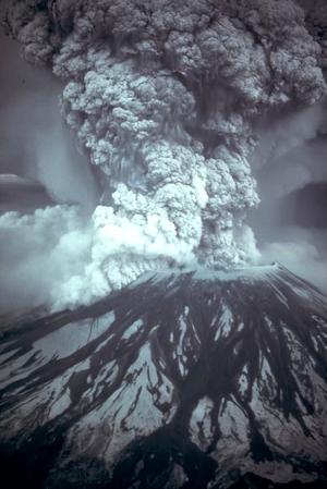 Erupção do Santa Helena, em 1980 (Foto: Wikimedia Commons)