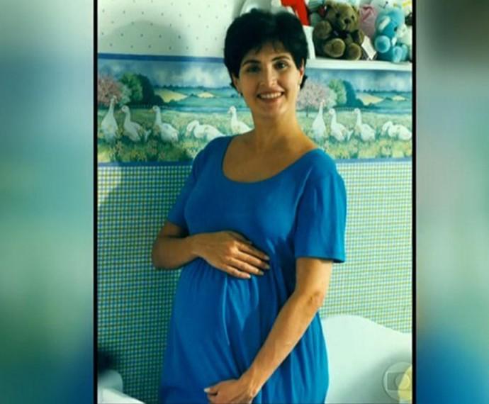 Fátima grávida dos trigêmeos (Foto: TV Globo)