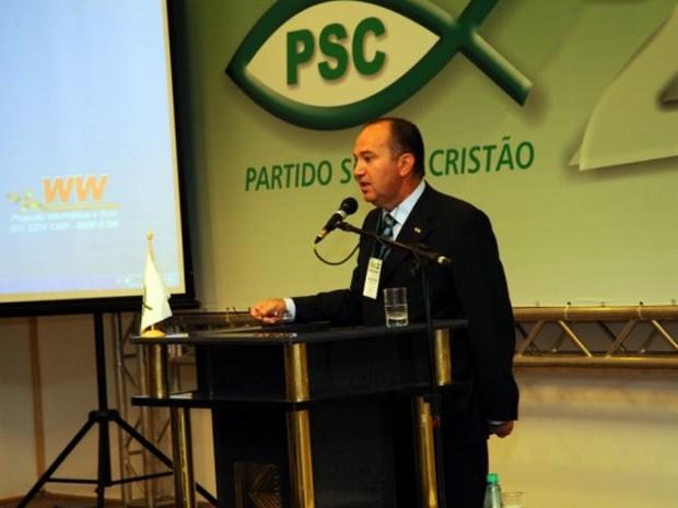 Pastor Everaldo em congresso do PSC (Foto: Divulgação)
