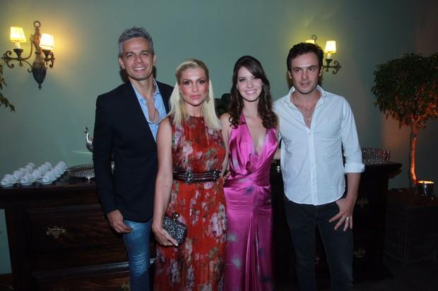 Otaviano Costa, Flavia Alessandra, Nathalia Dill e Sérgio Guizé (Foto: Marcello Sá Barretto / Agnews)